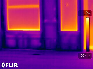infrared image of wet wall